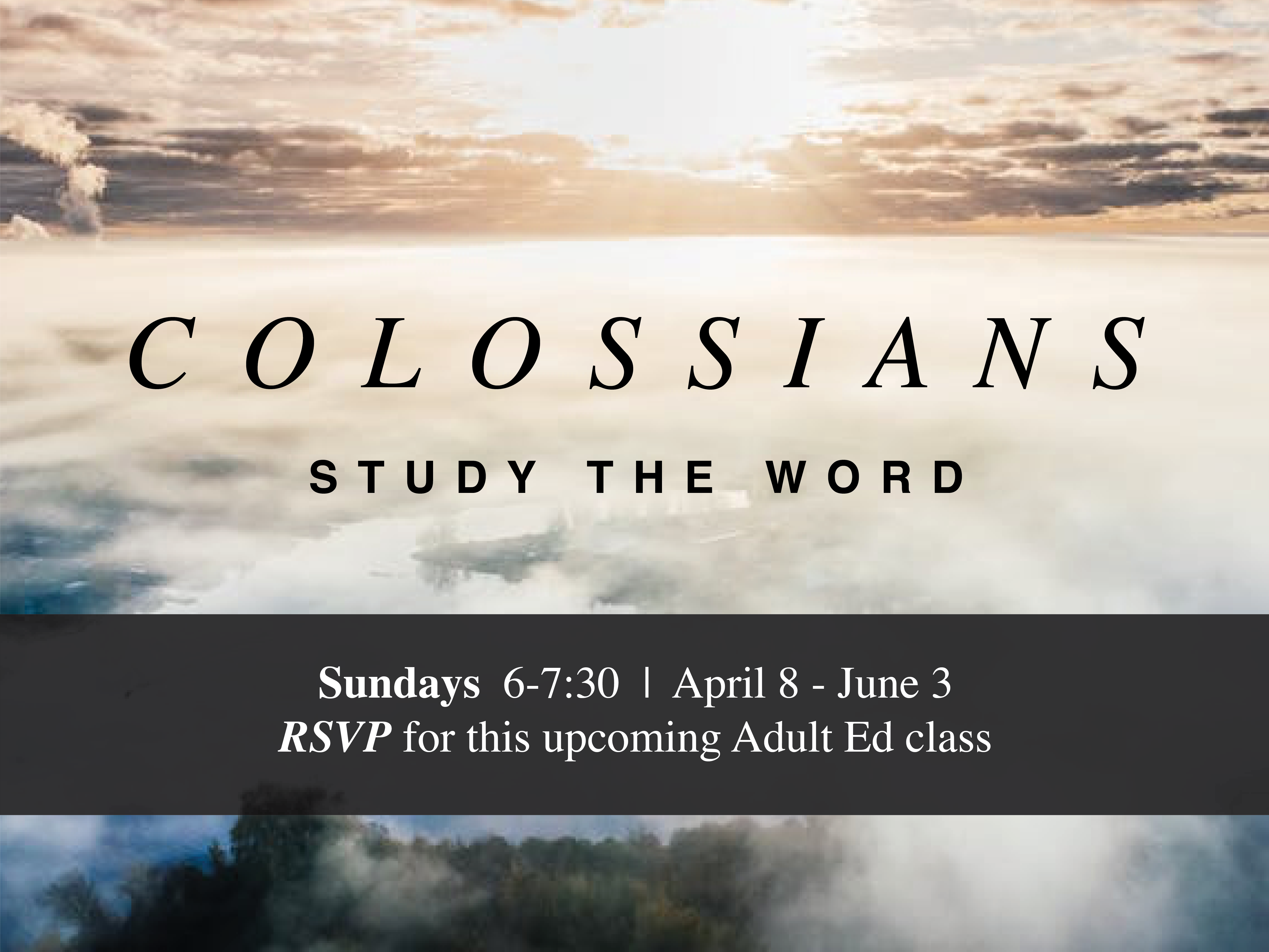 Slide - Colossians Class